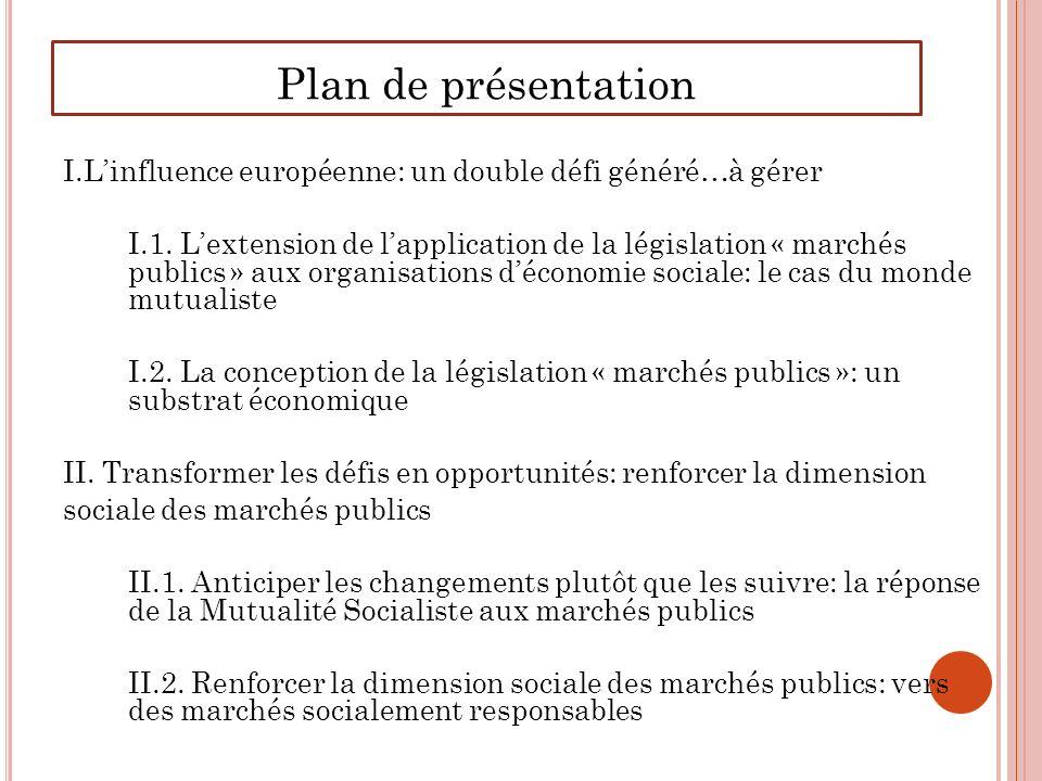 Plan de présentation I.Linfluence européenne: un double défi généré…à gérer I.1.