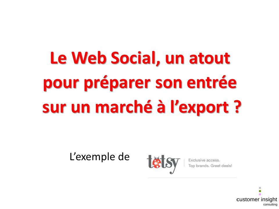 Le Web Social, un atout pour préparer son entrée sur un marché à lexport .