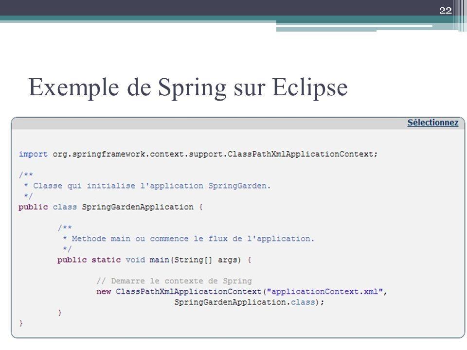 Exemple de Spring sur Eclipse 22