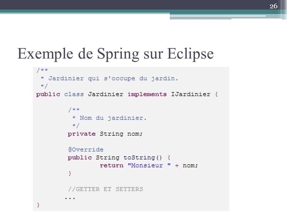 Exemple de Spring sur Eclipse 26