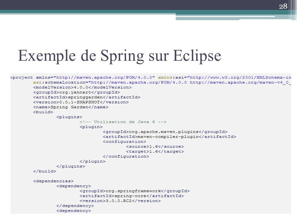 Exemple de Spring sur Eclipse 28