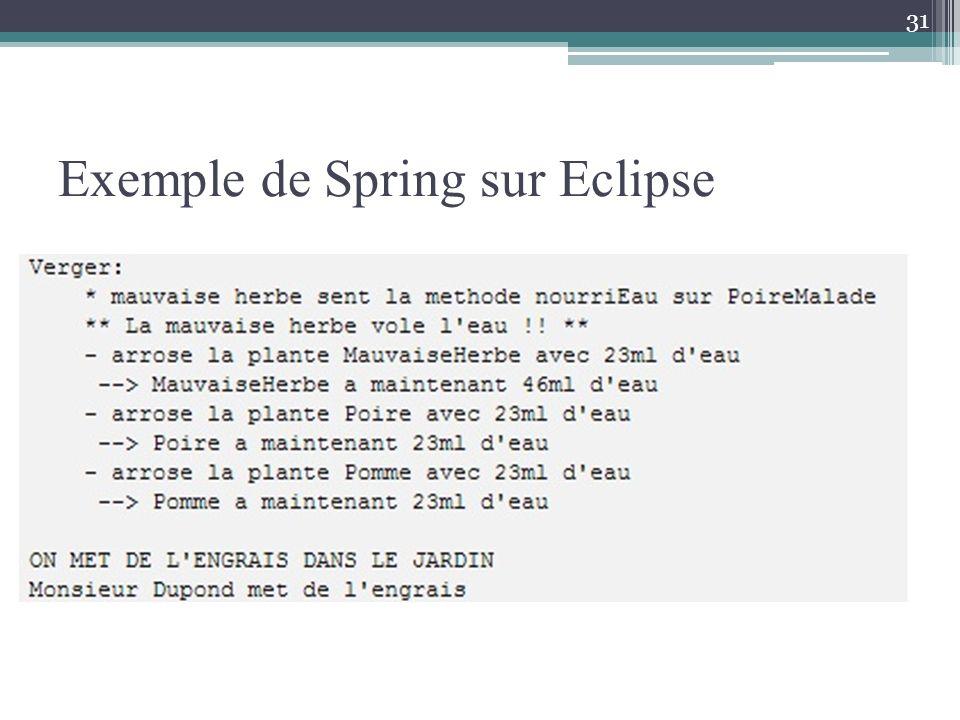 Exemple de Spring sur Eclipse 31