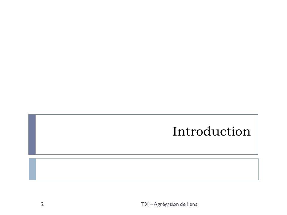 Introduction: schéma TX – Agrégation de liens3