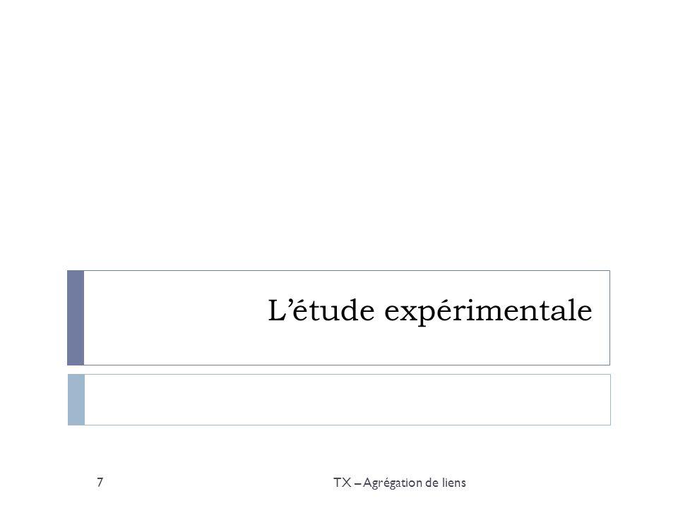 Létude expérimentale TX – Agrégation de liens7