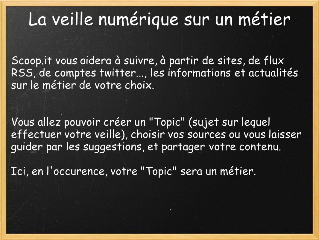 un exemple de topic: http://www.scoop.it/t/le-metier-de-professeur- documentaliste