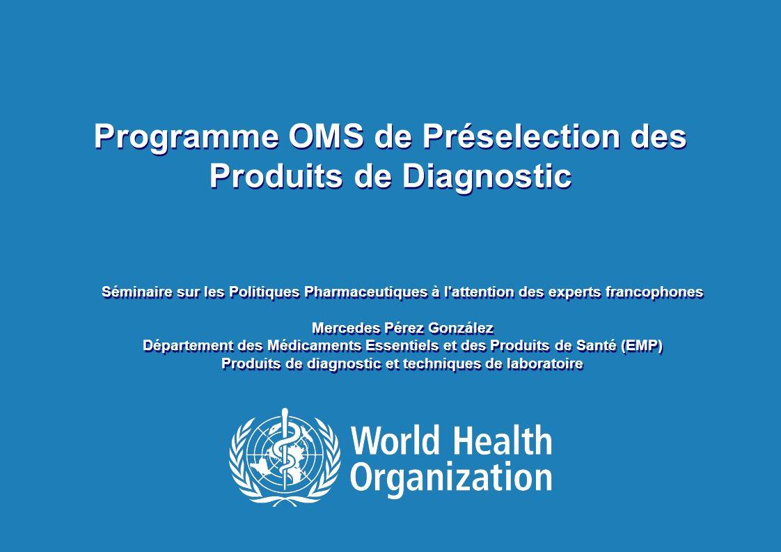 2   Séminaire sur les Politiques Pharmaceutiques à l attention des experts francophones   16 Avril 2013 Réglementation des dispositifs de diagnostic in-vitro (DMDIV) La réglementation spécifique pour les dispositifs de diagnostic est souvent mal comprise et / ou mal appliquée Différentes catégories de DMDIV sont réglementés différemment –Les DMDIV VIH, en particulier destinés à la sécurité transfusionnelle attirent plus de rigueur –Degré de rigueur est généralement basée sur le risque –La perception du risque est différente dans différents contextes Politiques en matière de gestion des achats de DMDIV des organismes internationaux dachat agissent comme –agissant comme un contrôle réglementaire de facto