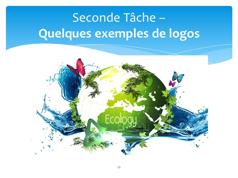 25 Seconde Tâche – Quelques exemples de logos