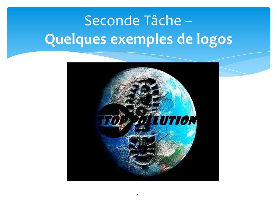 26 Seconde Tâche – Quelques exemples de logos