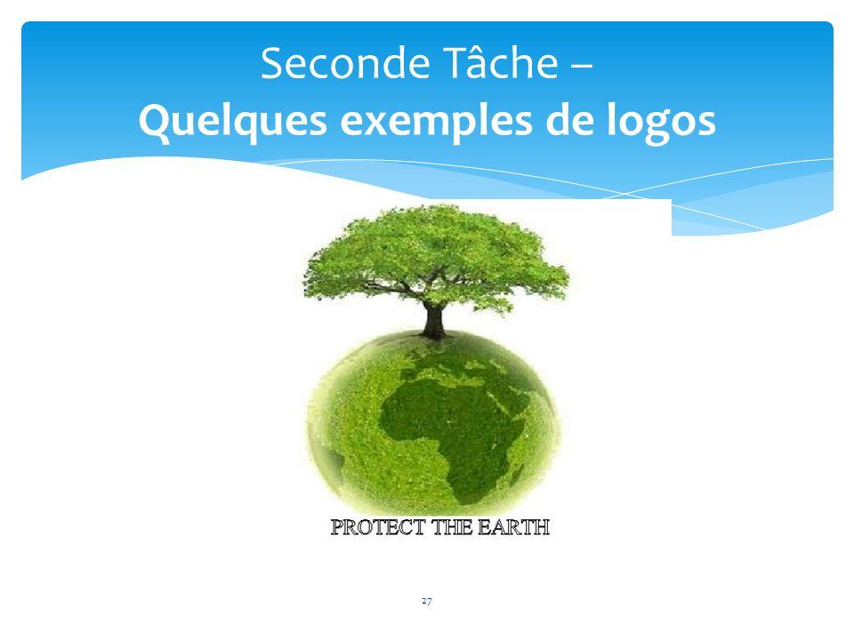 27 Seconde Tâche – Quelques exemples de logos