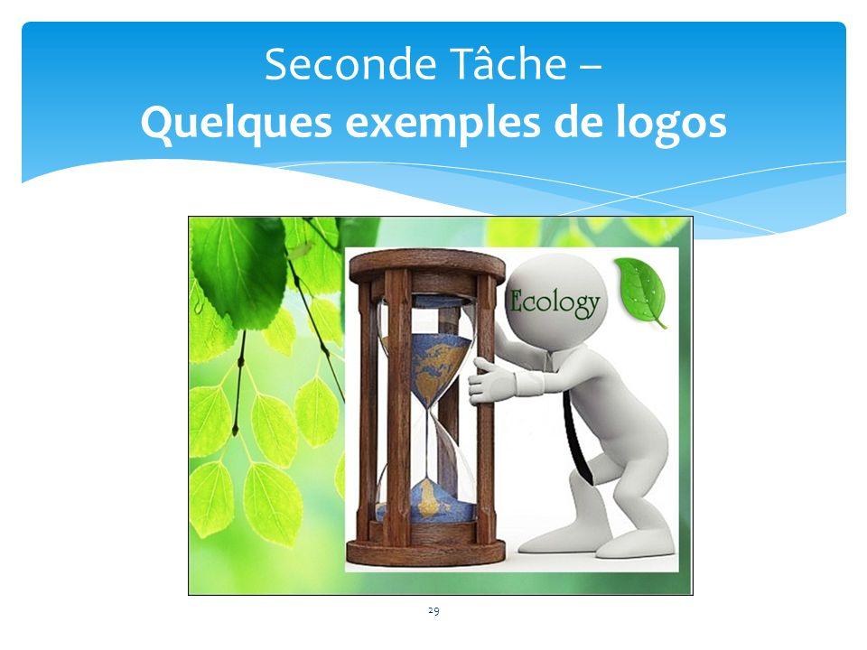 29 Seconde Tâche – Quelques exemples de logos