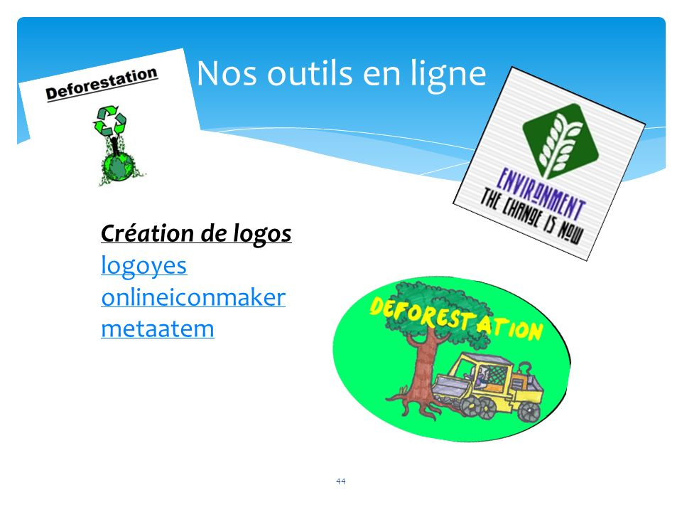 44 Nos outils en ligne 44 Création de logos logoyes onlineiconmaker metaatem