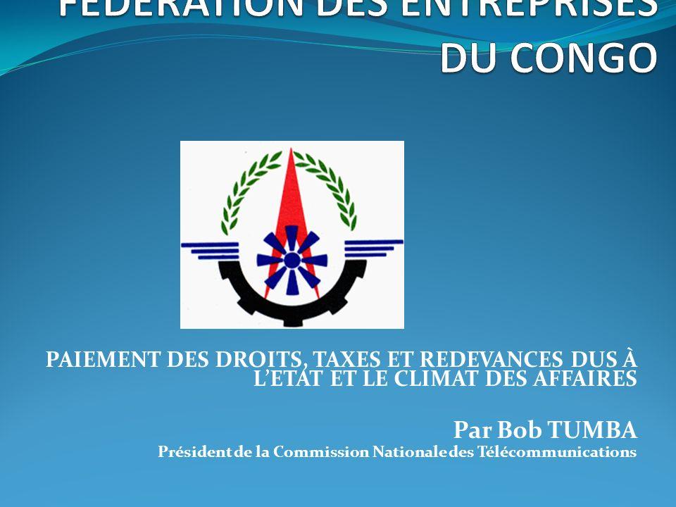 SOMMAIRE I.CONCEPT DU CLIMAT DES AFFAIRES II. FONDEMENTS DE LA FISCALITE III.