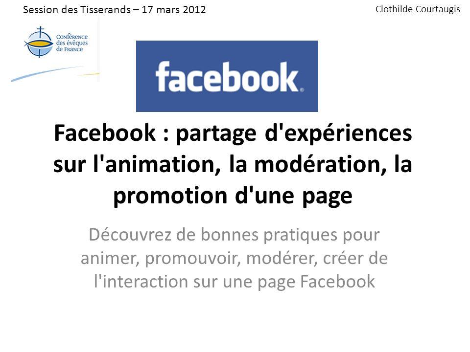 Introduction Parmi les personnes présentes à cet atelier : Combien animent une page Facebook .