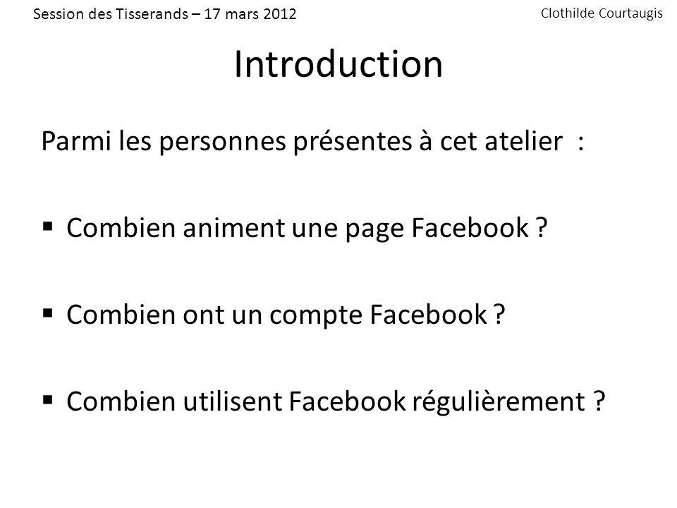 Introduction Facebook = 20,54 millions dutilisateurs en France (février 2011 – source Facebook.com) soit 31,8 % de la population et 46 % des internautes français.