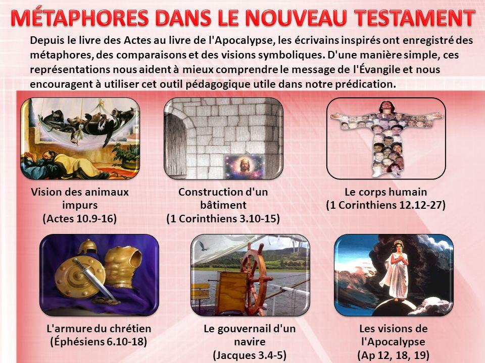 Depuis le livre des Actes au livre de l Apocalypse, les écrivains inspirés ont enregistré des métaphores, des comparaisons et des visions symboliques.