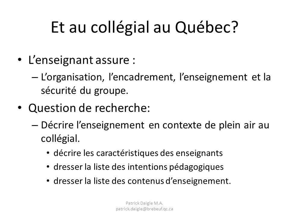 Et au collégial au Québec.