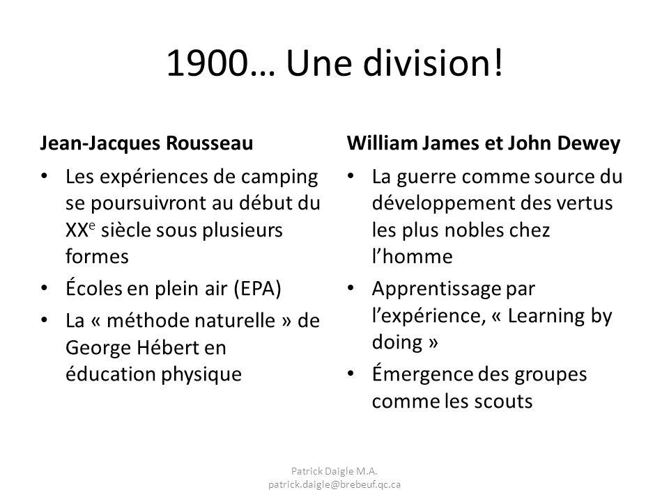1900… Une division.