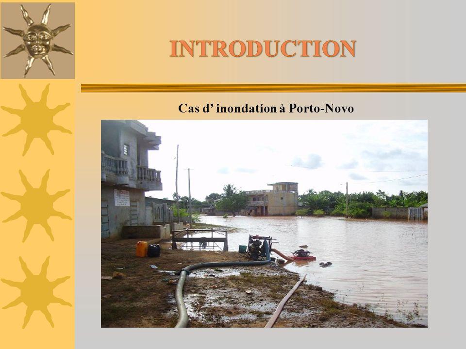 Cas d inondation à Porto-Novo