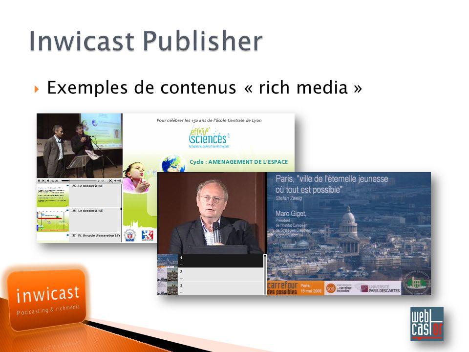 Exemples de contenus « rich media »