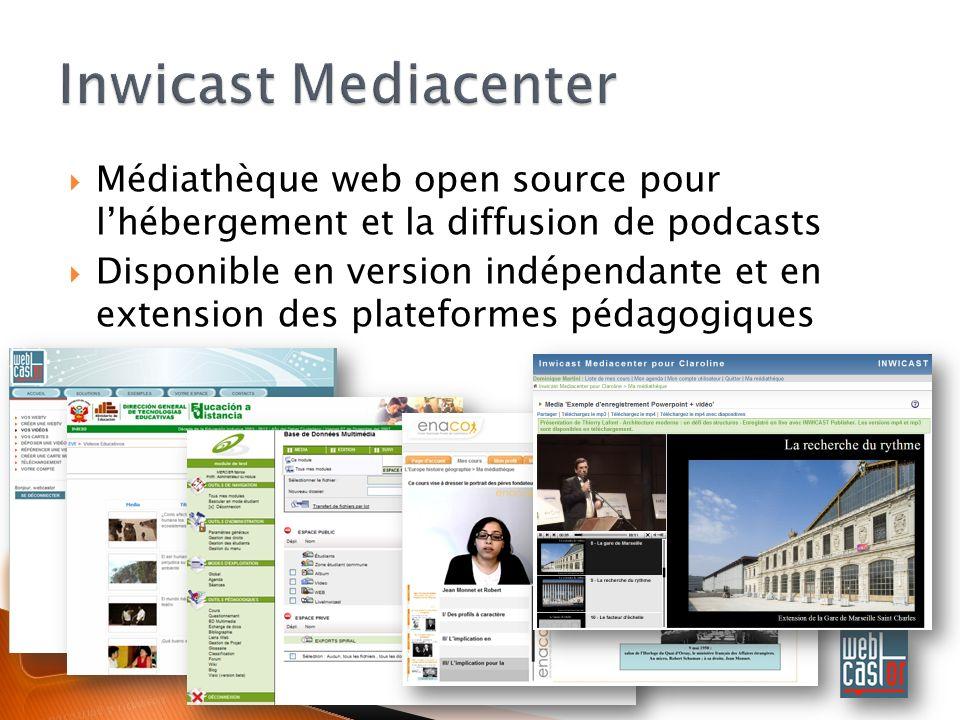 Médiathèque web open source pour lhébergement et la diffusion de podcasts Disponible en version indépendante et en extension des plateformes pédagogiques