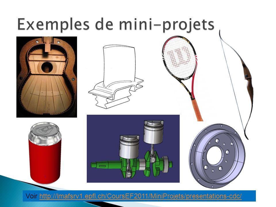 Voir http://lmafsrv1.epfl.ch/CoursEF2011/MiniProjets/presentations-cdc/http://lmafsrv1.epfl.ch/CoursEF2011/MiniProjets/presentations-cdc/