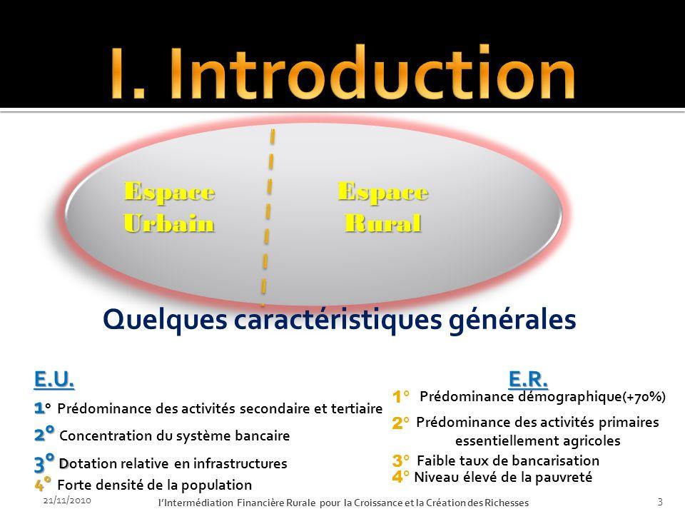 21/11/2010 lIntermédiation Financière Rurale pour la Croissance et la Création des Richesses 2