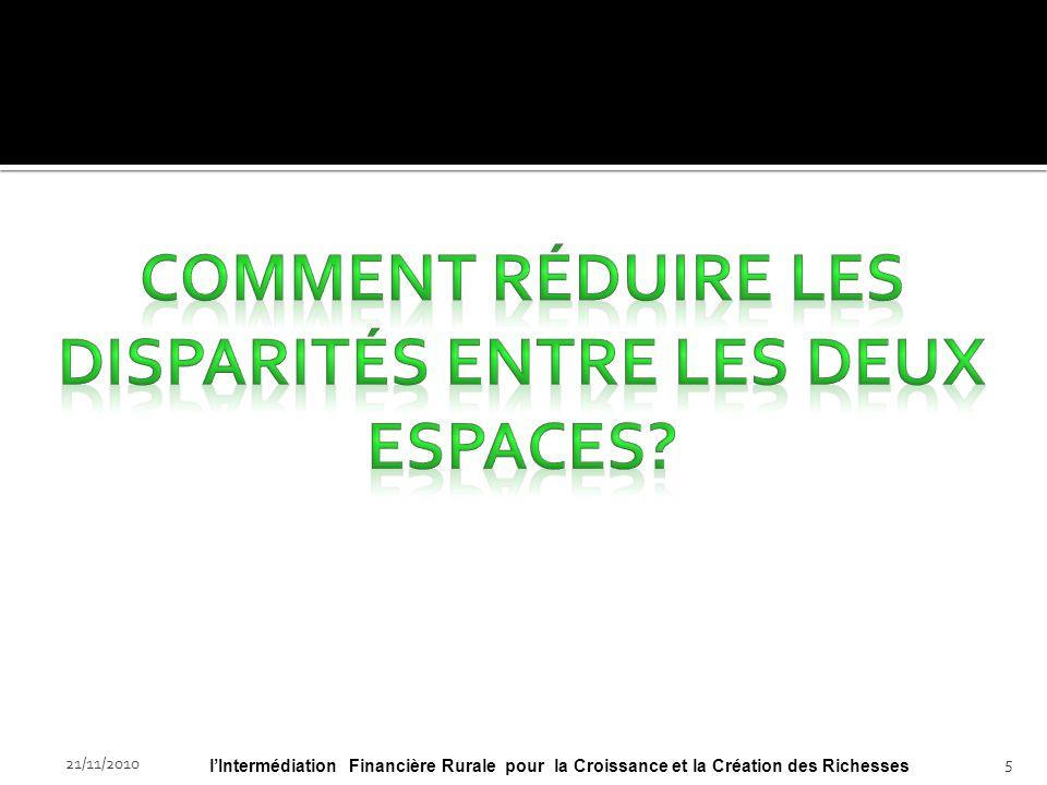 21/11/201025lIntermédiation Financière Rurale pour la Croissance et la Création des Richesses