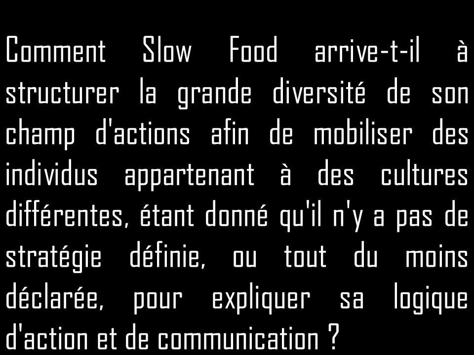 Comment Slow Food arrive-t-il à structurer la grande diversité de son champ d'actions afin de mobiliser des individus appartenant à des cultures diffé