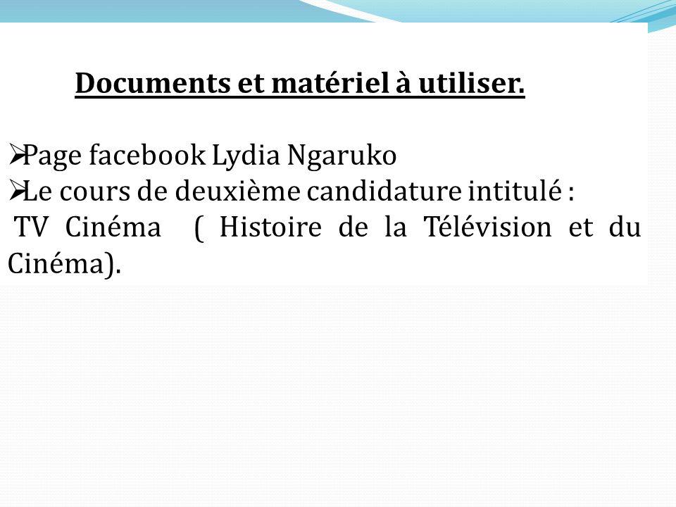 Documents et matériel à utiliser.