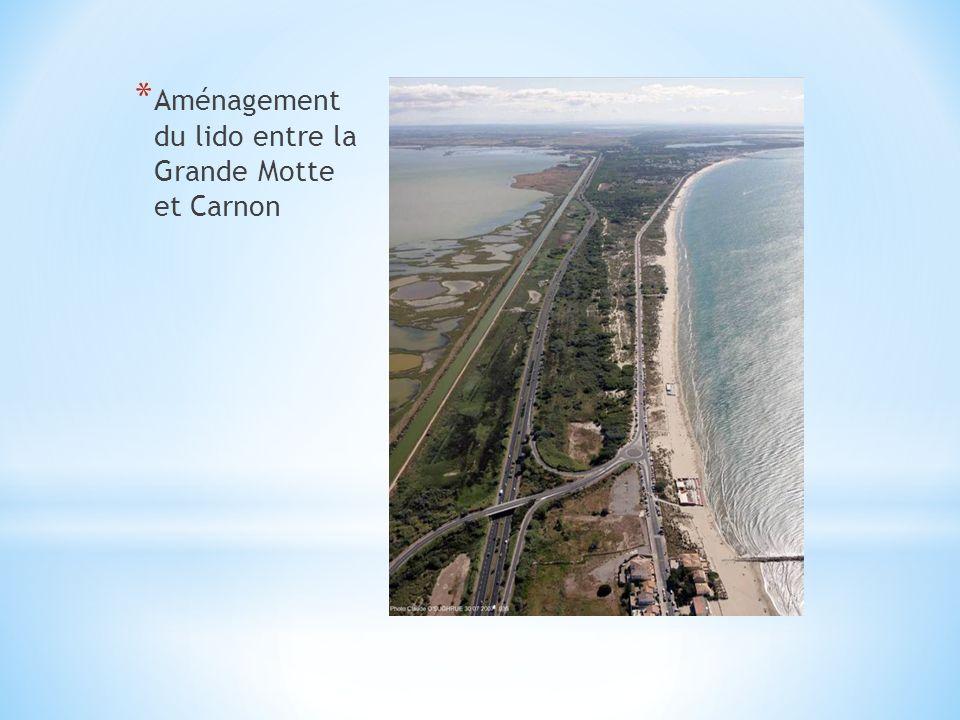 * Aménagement du lido entre la Grande Motte et Carnon
