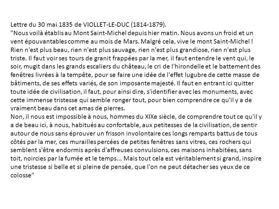 Lettre du 30 mai 1835 de VIOLLET-LE-DUC (1814-1879).