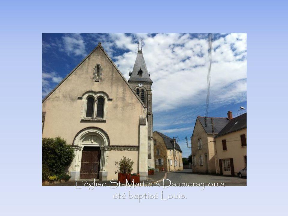 Léglise St-Martin à Daumeray ou a été baptisé Louis.