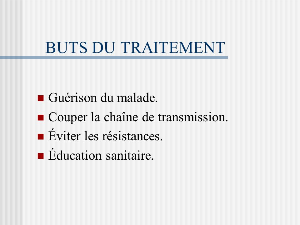 ASPECTS THÉRAPEUTIQUES DE LA TUBERCULOSE
