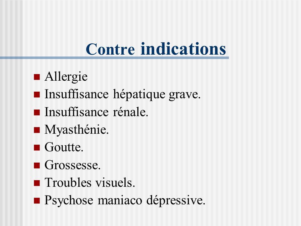 Effets secondaires majeurs Ictère Arrêt du traitement antibacillaire Bilan hépatique Référer en urgence au pneumologue traitant Réaction cutanée : der