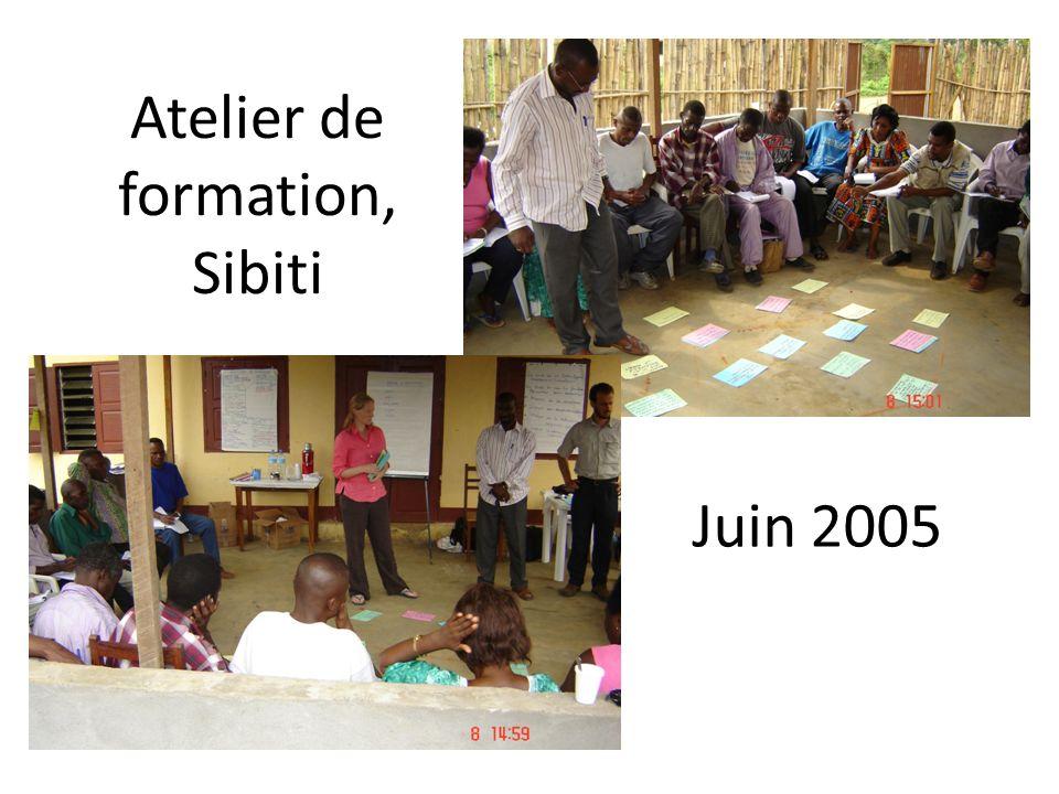 Atelier de formation, Sibiti Juin 2005