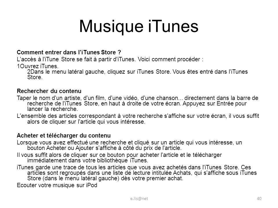 Musique iTunes Comment entrer dans l iTunes Store .