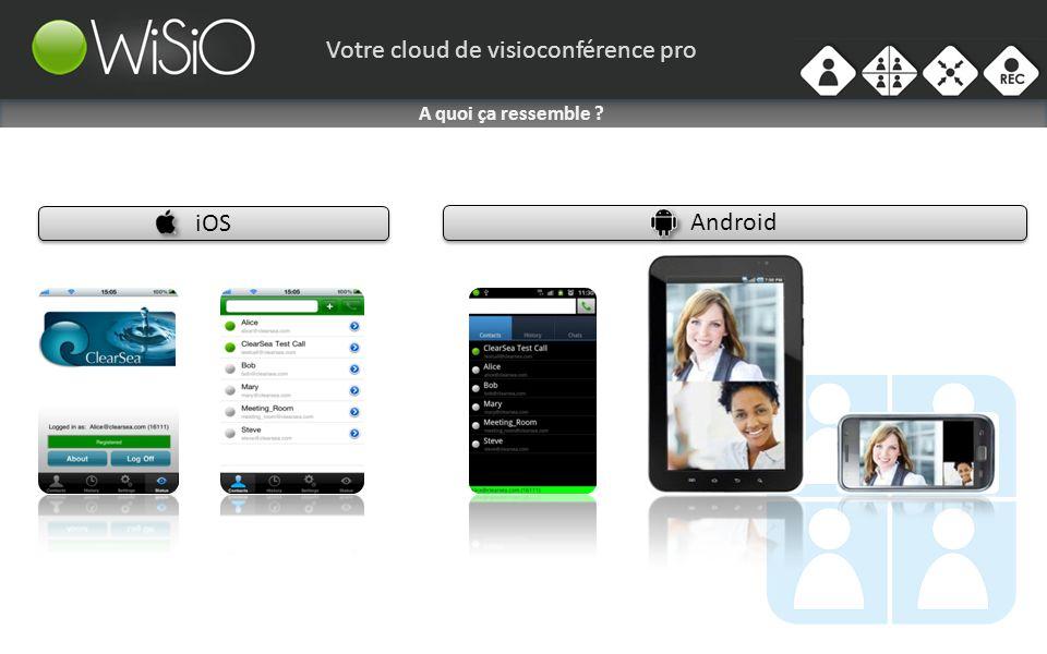 Votre cloud de visioconférence pro iOS Android A quoi ça ressemble