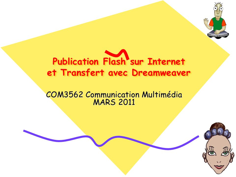 Publication Flash sur Internet et Transfert avec Dreamweaver COM3562 Communication Multimédia MARS 2011