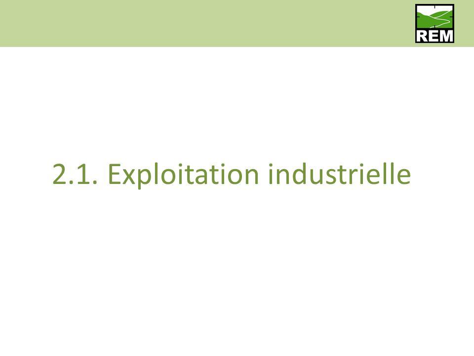 2.1. Exploitation industrielle