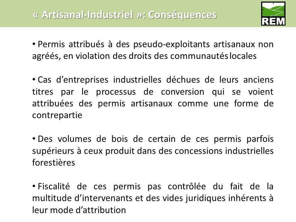 « Artisanal-Industriel »: Conséquences Permis attribués à des pseudo-exploitants artisanaux non agréés, en violation des droits des communautés locale