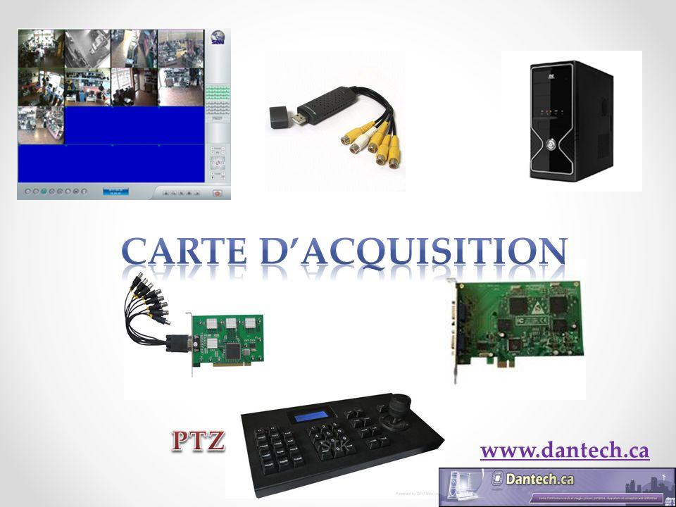 Carte dacquisition La carte dacquisition se branche dans lordinateur dans le port PCI, USB ou PCI-ex.