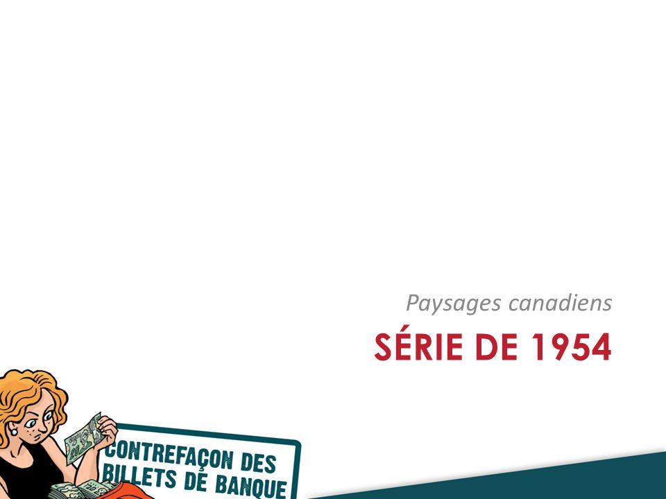 SÉRIE DE 1954 Paysages canadiens