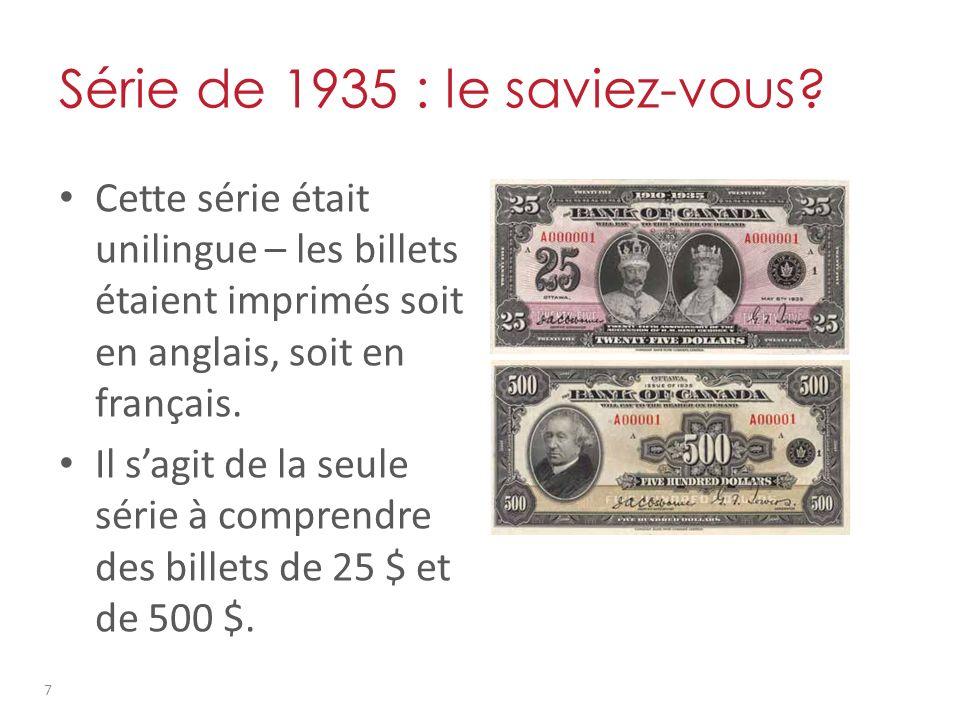 Série de 1969 - 1979 : thèmes Recto des billets : – Surnommée la « série multicolore » en raison de la variété de teintes utilisées sous la couleur dominante.