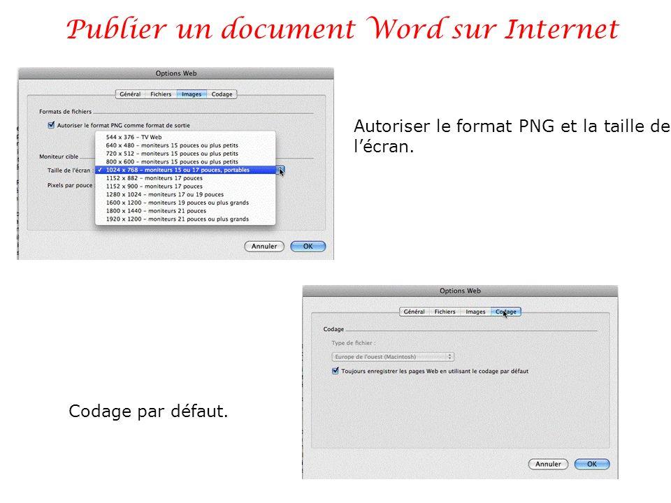 Publier un document Word sur Internet 8 Enregistrez la page html et ses fichiers associés.