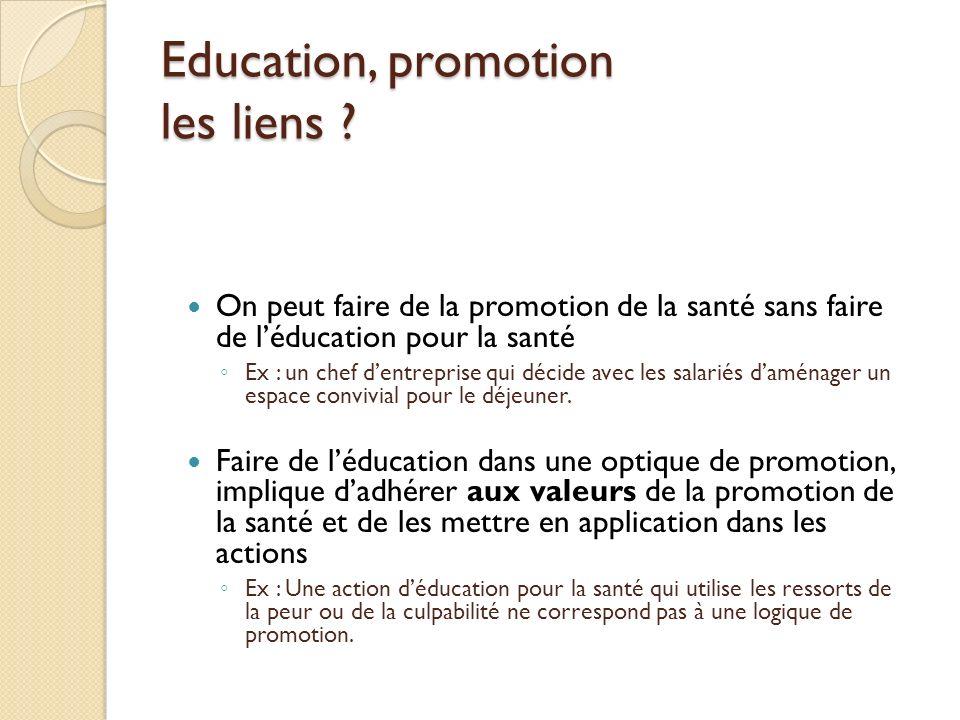 Education, promotion les liens .