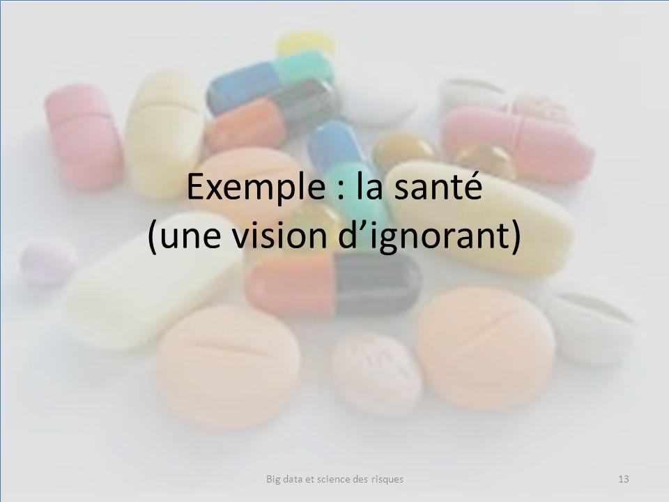 Exemple : la santé (une vision dignorant) Big data et science des risques13