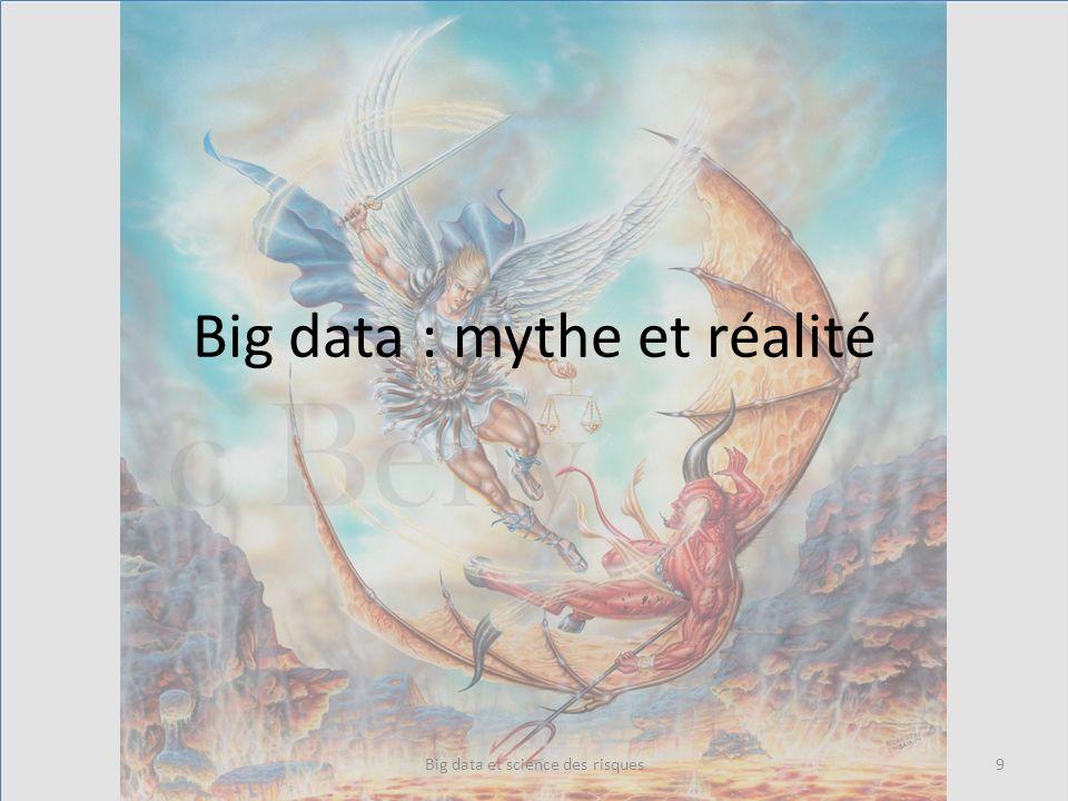 Big data – Le mythe On va résoudre les problèmes de lhumanité – On a plus en plus de données bientôt toutes les données – Un coup dalgo et on va résoudre le cancer, la pauvreté, etc.