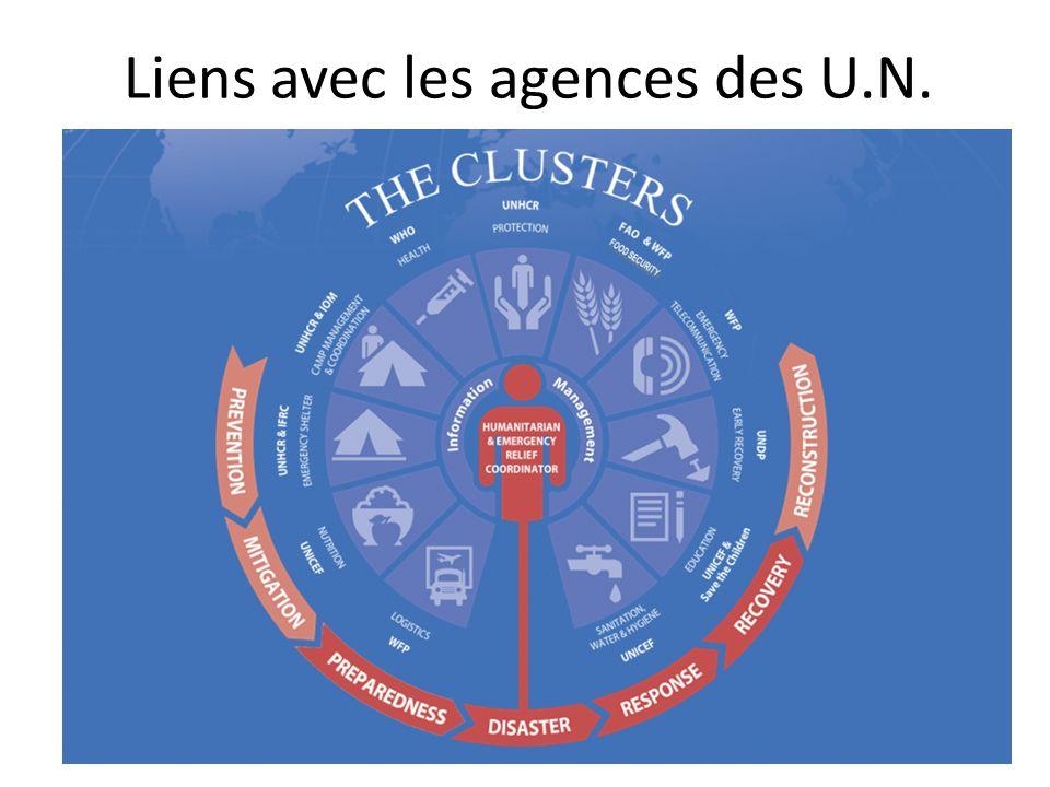 Liens avec les agences des U.N.