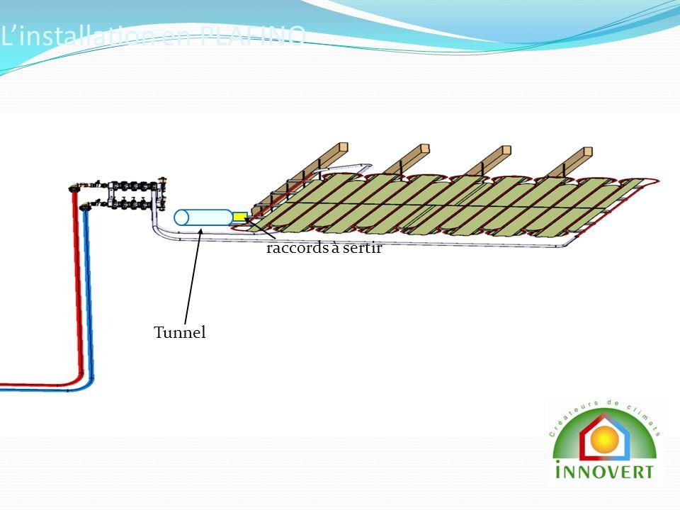 Linstallation en PLAFINO raccords à sertir Tunnel