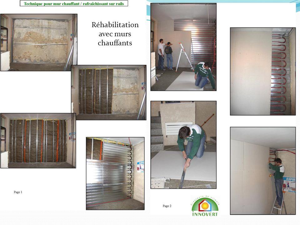 Réhabilitation avec murs chauffants
